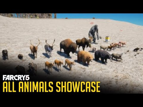 Far Cry 5 - All Animals in the Game (Showcase) Every Wild Life, Fish, Birds, Domestic Animals