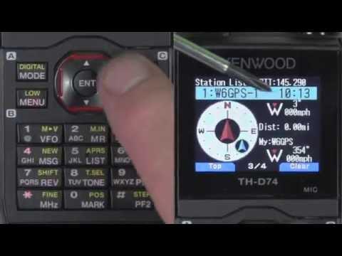 Kenwood TH-D74 APRS SETUP
