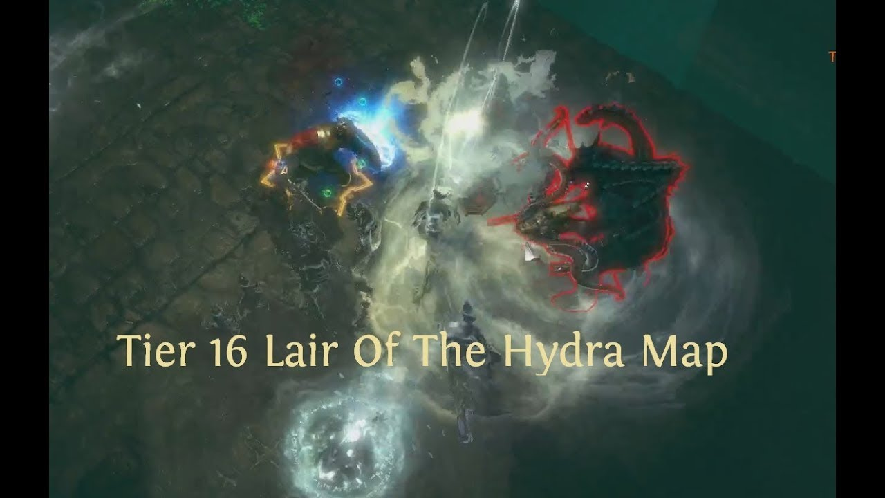 POE 3 3 Level 83 Tier 16 Lair Of Hydra Map Gladiator Bladefall Traps Build