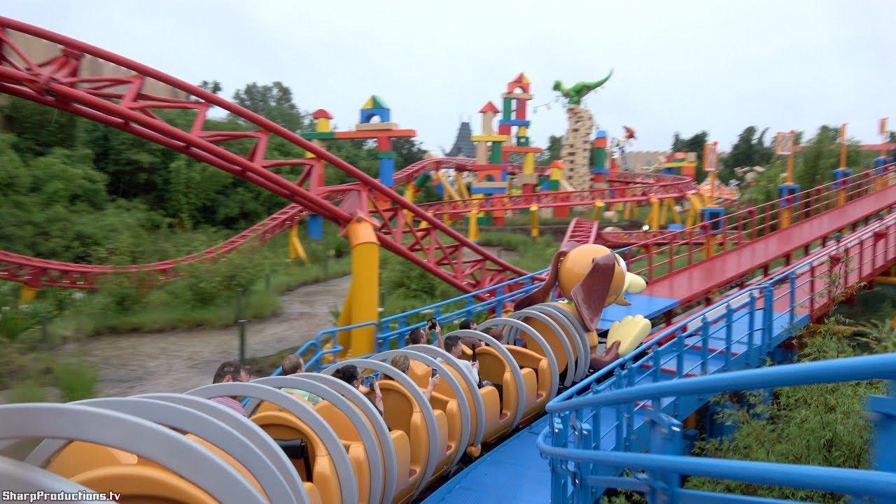 Slinky Dog Dash 4k On Ride Back Toy Story Land At Disney S