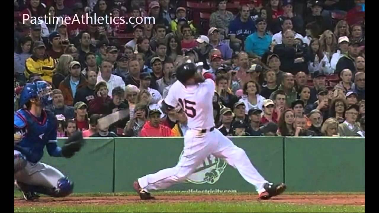DUSTIN PEDROIA Home Run Baseball Swing Slow Motion Hitting Mechanics Analysis Instruction MLB Boston