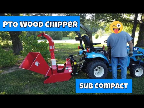 My First Try PTO Wood Chipper Shredder from Titan Attachments