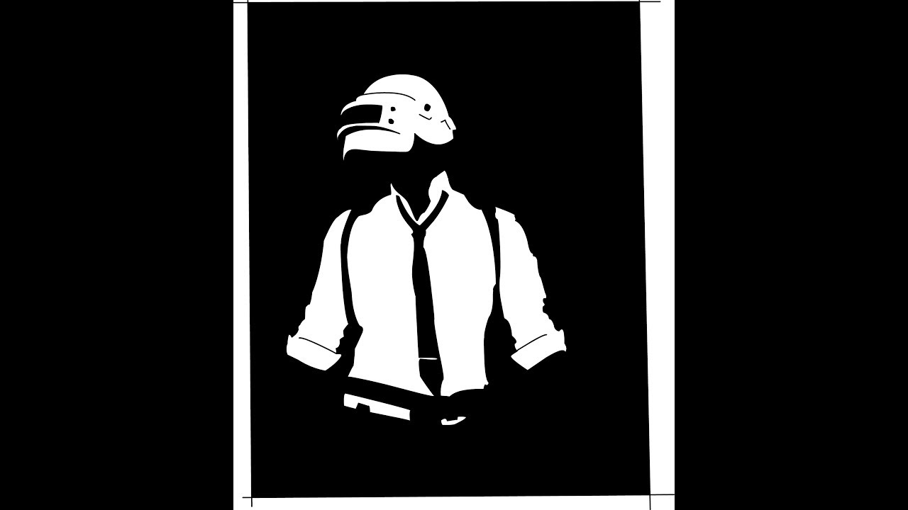 PUBG-Logo | BLACK AND WHITE | Drawing | Time Lapse | - YouTube