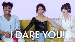 Liza Koshy Plays I Dare You With Kimiko Glenn & Travis Coles   Teen Vogue