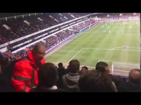Spurs 4 - 0 Newcastle - Newcastle fans kicking off