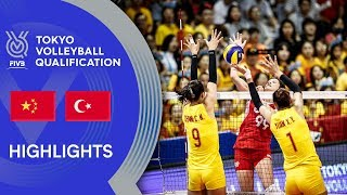 CHINA Vs. TURKEY - Highlights Women | Volleyball Olympic Qualification 2019