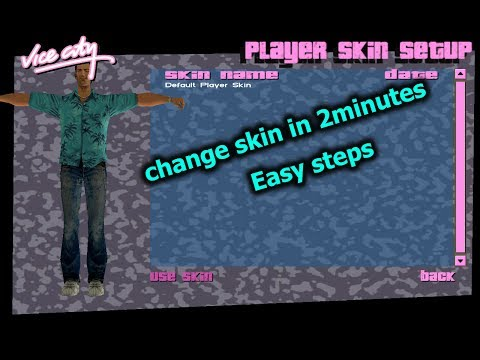 How To Change Gta Vice City Player Skin And Cloth In 2minutes