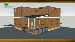 Проект дома Барсело́на (2-этажный дом, южный фасад) Часть 2.(, 2015-10-02T21:31:35.000Z)