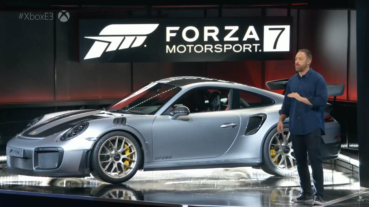 forza motorsport 7 porsche 911 gt2 rs full presentation e3 2017 youtube. Black Bedroom Furniture Sets. Home Design Ideas