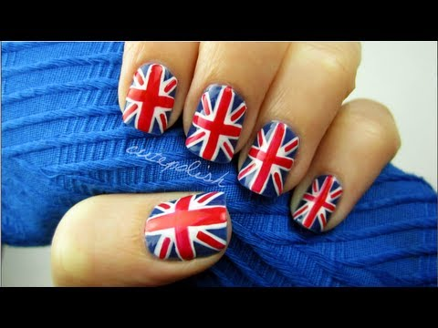 Union jack flag nails youtube union jack flag nails prinsesfo Image collections