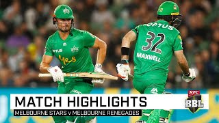 Stars soar to keep Renegades winless in Melbourne Derby | KFC BBL|09