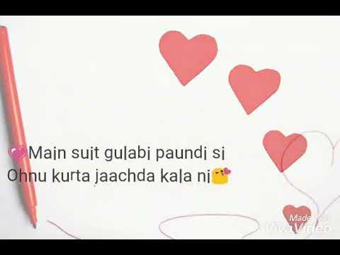 WhatsApp status ::| suit gulabi song! by...