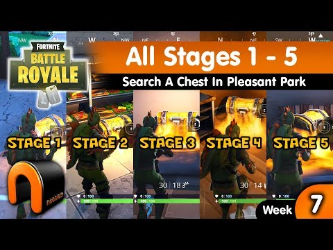 STAGE 1 Search A Chest In Pleasant Park FORTNITE