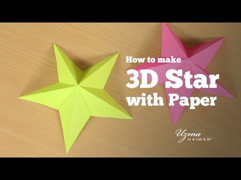 How to make 3D star with paper | Simple and easy origami star craft