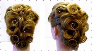 Свадебная прическа.  Прическа на праздник. Видео урок. Holiday hairstyle