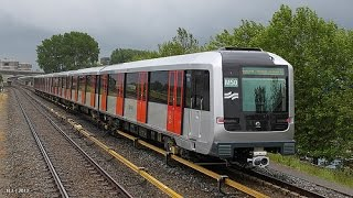 Futuristic Metro in Amsterdam, Netherlands