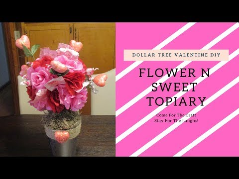 FLOWERS n SWEET V-DAY Topiary