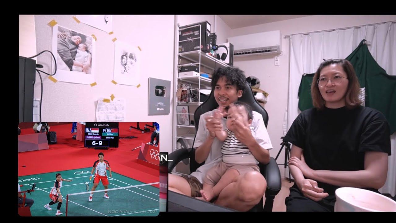 Nonton final Badminton ganda putri Indonesia 🇮🇩! Bareng keluarga Jepang ! TERHARU !