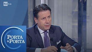 Giuseppe Conte sulle rotte dell'immigrazione - Porta a porta 08/01/2019