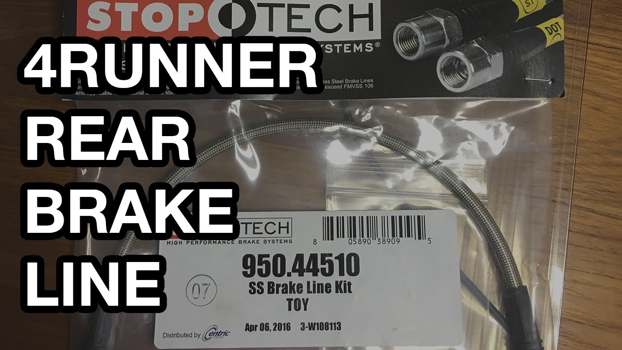 Toyota 4runner Tacoma Rear Brake Line Replacement Youtube