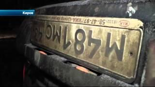 Пьяный водитель из Киров превратил машину в груду металлолома