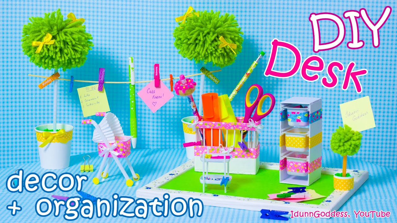 desk decor and organization ideas mini baby room style youtube