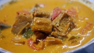 Sri Lankan Style Dried Fish Curry/ කරවල ව්යාංජනය