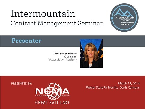Melissa Starinsky-Great Salt Lake NCMA/ICMS: Furthering Your Education in Federal Contracting