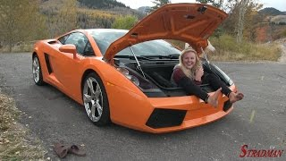 Can Lucy fit in the trunk of my Lamborghini Gallardo!? And Wendy