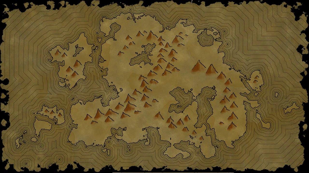 Island Fantasy Map