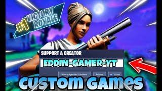 🔴 CUSTOM GAMES Von Gundam-Lei Creator Code :Eddin-Gamer-YT 🔴 /#Abozocken#customgames#Fortnite