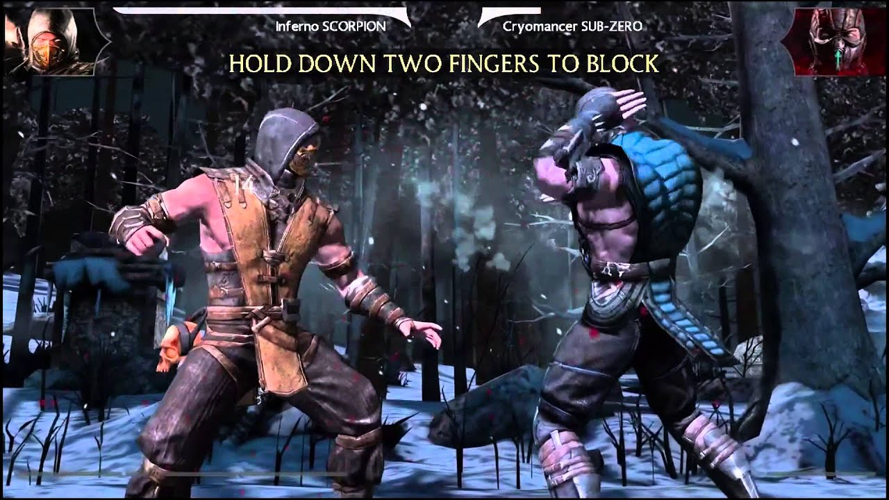 mortal kombat x scorpion vs sub zero gameplay with