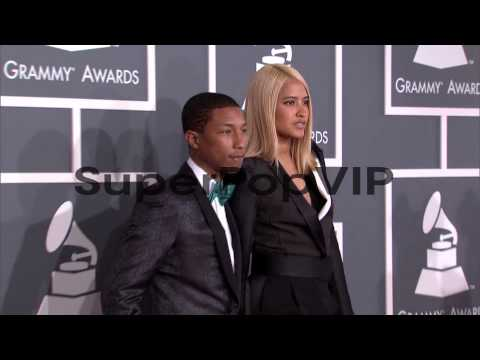 Pharrell Williams at The 55th Annual GRAMMY Awards - Arri...