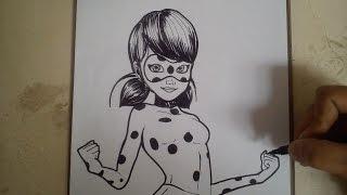 COMO DIBUJAR A LADYBUG - PRODIGIOSA / how to draw ladybug - miraculous
