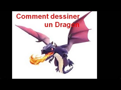 Comment dessiner un dragon clash of clans youtube - Dessiner dragon ...