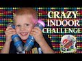 CRAZY FUN Indoor Racing CHALLENGE!  Parents VS Kids || Family Game Night