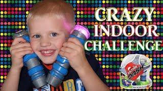 FAST PACED Indoor Racing CHALLENGE!  Parents VS Kids