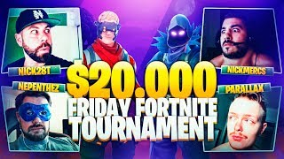 I CARRY NICKMERCS TO A VICTORY ROYALE in the $20,000 FORTNITE TOURNEY - ROUND 2