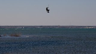 KITEBOARDING AIR in THE GREAT LAKES!!