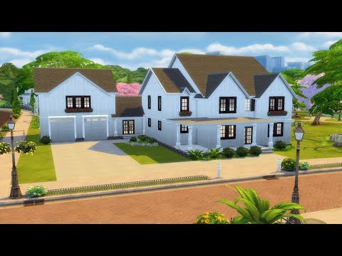 The Sims 4 - Family Home | Speed Build | House Building thumbnail