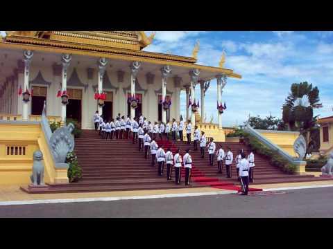 guards at the royal palace Phnom Penh, Cambodia