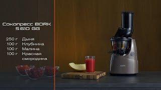Как делать смузи в шнековом сокопрессе BORK S610. Свежевыжатый сок из ягод и дыни.