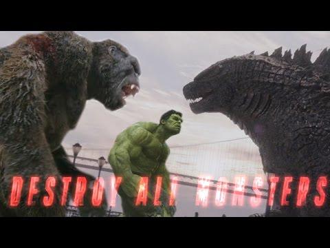 King Kg vs Godzilla vs Avengers Mashup  Destroy All Msters Fan Trailer