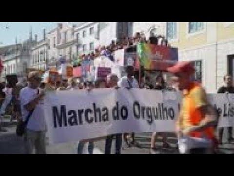 Thousands At Gay Parade In Lisbon