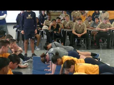 Atlantic City High School ROTC Female Push-ups(2018)