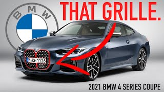 Massive New Grille! - 2021 BMW 4 Series Coupe: First Look
