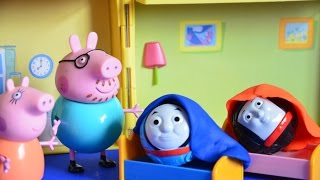 Play Doh Thomas and Friends Sleepover Mammy Pig Daddy Pig Full Episode