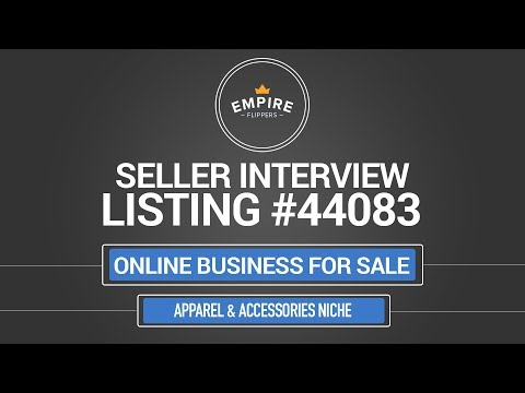 Online Business For Sale – $12.3K/month in the Apparel & Accessories Niche
