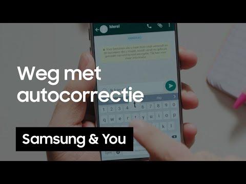 autocorrectie uitzetten op je samsung telefoon android aamp you