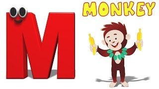 Phonics Letter- M   Alphabet Songs For Children   Phonics Letters For Toddlers   Videos For Kids